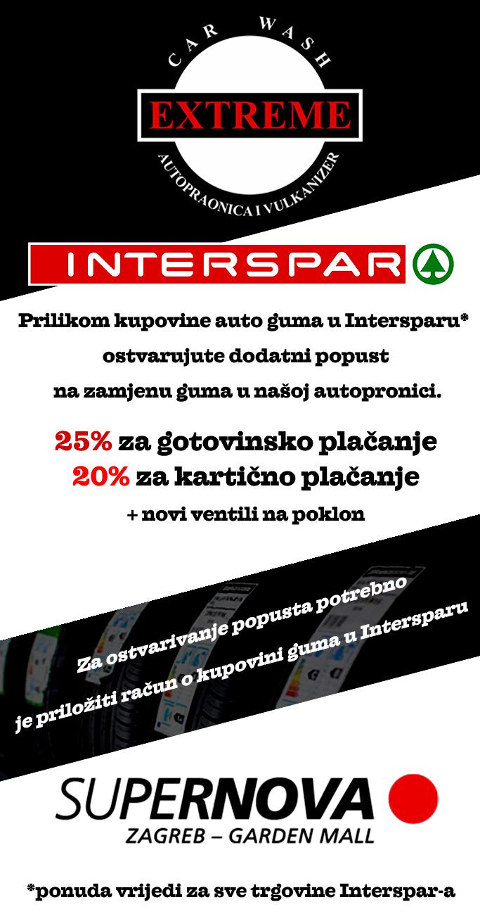 Ostvarite popust na zamjeni guma, kupnjom u Interspar-u