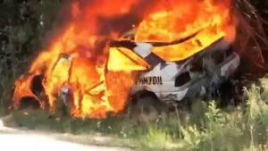 R.I.P. – Ken Blockov Ford Escort RS Cosworth izgorio u plamenu